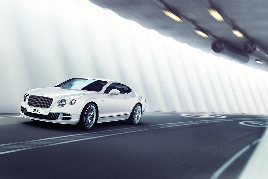 Bentley driving inside a Tunnel CGI car