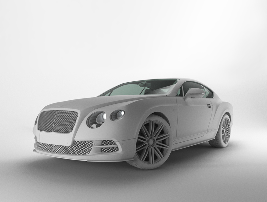 Bentley Continental GT Speed CGI Model
