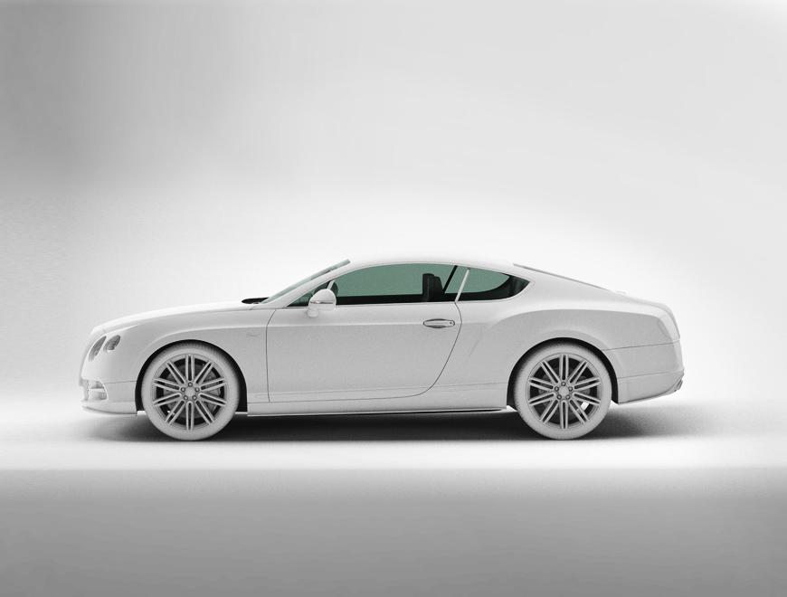 Bentley chalk side view