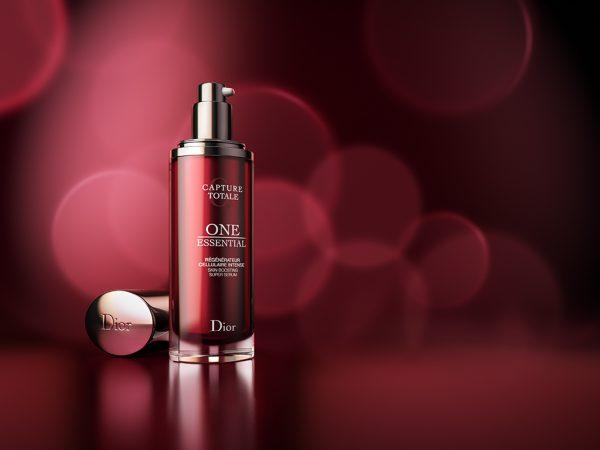CGI Dior One Essential cream on red background