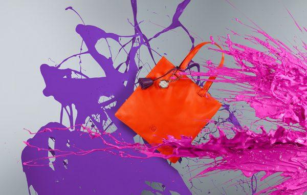 Retouched Loewe handbag with splattered paint 4