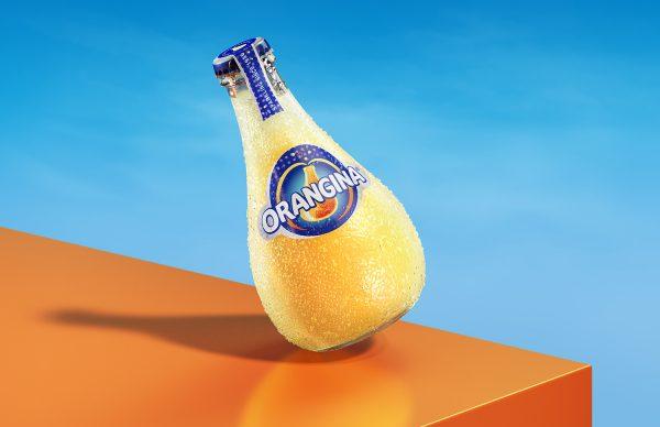CGI Orangina bottle closeup