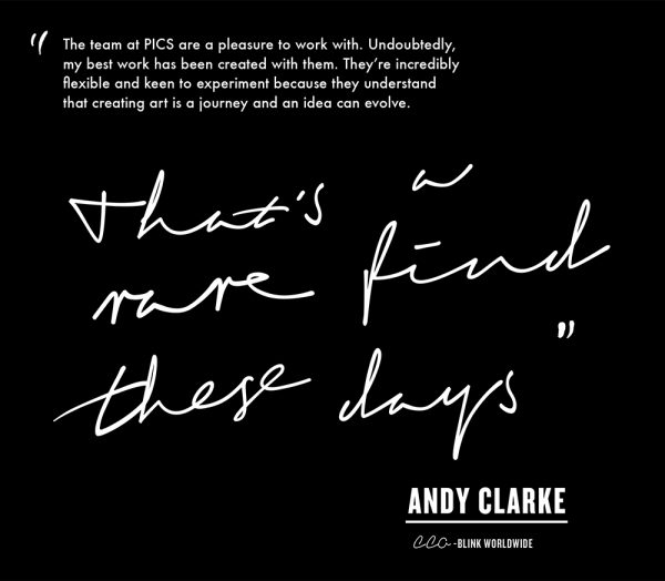 Andy Clarke Blink Worldwide Quote