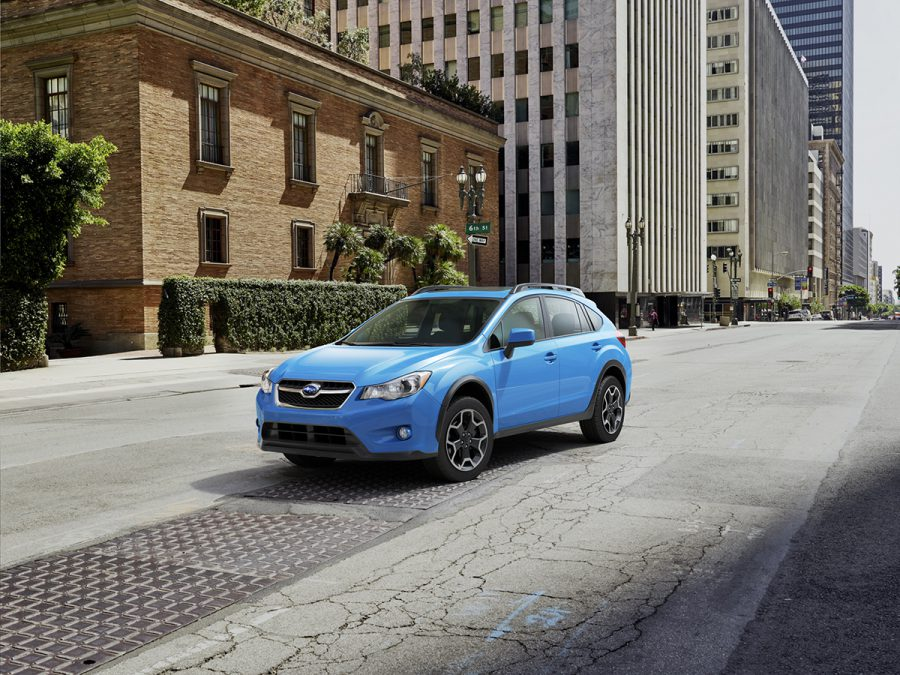Subaru CGI Car on city street 6