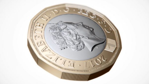 New CGI moving image pound coin